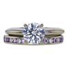 1.20 ct. Round Cut Bridal Set Ring, H, SI2 #3