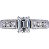 0.95 ct. Emerald Cut Solitaire Ring, E, VVS2 #3