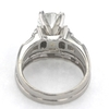 1.18 ct. Round Cut Bridal Set Ring #4