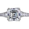 2.84 ct. Square Emerald Cut Solitaire Ring, F, SI1 #3