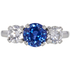 2.15 ct. Round Cut 3 Stone Ring, Blue, Very Slightly Included #1