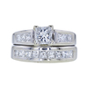 0.74 ct. Princess Cut Bridal Set Ring, E, SI1 #3