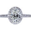 1.00 ct. Oval Cut Halo Ring, I, SI1 #3