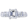 1.02 ct. Emerald Cut Solitaire Ring, G, VVS2 #3
