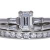 0.95 ct. Emerald Cut Bridal Set Ring, F, VVS2 #3