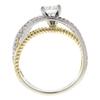 0.75 ct. Round Cut Bridal Set Ring, E, SI2 #4