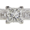 0.72 ct. Princess Cut Bridal Set Ring, I, VS2 #4