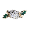 0.8 ct. Round Cut Central Cluster Ring, E, I1 #3