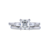 1.26 ct. Asscher Cut 3 Stone Ring, H, VVS1 #3