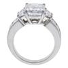 3.3 ct. Radiant Cut Bridal Set Ring, E, SI1 #4