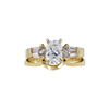 1.00 ct. Oval Cut Bridal Set Ring, G, I1 #3