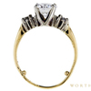 1.15 ct. Round Cut 3 Stone Ring, H-I, VS2-SI1 #3