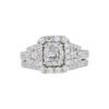 0.98 ct. Radiant Cut Bridal Set Ring, F, SI1 #3