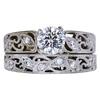 0.70 ct. Round Modified Brilliant Cut Bridal Set Ring, H, VS2 #3