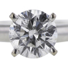 0.96 ct. Round Cut Solitaire Ring, D, I1 #4