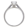 0.73 ct. Round Cut Bridal Set Ring, E, VVS2 #4