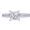 1.28 ct. Princess Cut Solitaire Ring, H, SI1 #1