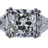 2.53 ct. Cushion Cut 3 Stone Ring, J, SI2 #4