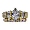 0.81 ct. Marquise Cut Bridal Set Ring, E, VS2 #3
