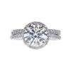 2.02 ct. Round Cut Bridal Set Ring, J, SI2 #2