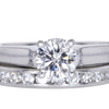 0.97 ct. Round Cut Bridal Set Ring #3