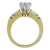 0.88 ct. Round Cut 3 Stone Ring, J, SI2 #3