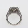 2.45 ct. Cushion Cut Bridal Set Ring #2