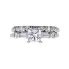0.85 ct. Princess Cut Bridal Set Ring, F, SI1 #2