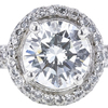 1.62 ct. Round Cut Bridal Set Ring, H, SI1 #4