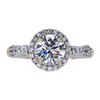 1.11 ct. Round Cut Halo Ring, G, I1 #2