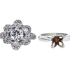 1.15 ct. Round Cut Blossom Cluster Ring, I, SI1 #3