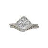 1.24 ct. Round Cut Bridal Set Ring, J, I1 #3