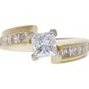 1.03 ct. Princess Cut Solitaire Ring, E, VS1 #3