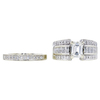 1.02 ct. Emerald Cut Bridal Set Ring, J, VS1 #3