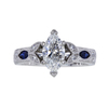 0.99 ct. Marquise Cut Solitaire Ring, G, VS2 #3