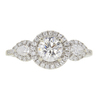 0.7 ct. Round Cut Halo Ring, G, VS2 #3