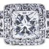 1.30 ct. Princess Cut Bridal Set Ring, H-I, SI1 #1