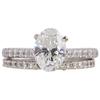 1.50 ct. Oval Cut Bridal Set Ring, H, SI1 #3
