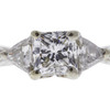 1.11 ct. Princess Cut Bridal Set Ring, F, VVS1 #4