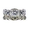 0.80 ct. Round Cut Bridal Set Ring, J, I1 #3