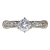 1.11 ct. Round Cut Solitaire Ring, E, SI2 #3