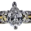 0.69 ct. Pear Cut Bridal Set Ring, G, SI2 #4