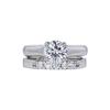 1.06 ct. Round Cut Bridal Set Ring, H, I1 #2