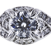 0.74 ct. Round Modified Brilliant Cut Bridal Set Ring, H, SI2 #4