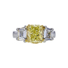 2.22 ct. Radiant Cut 3 Stone Ring, Fancy, VS1 #3