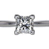1.14 ct. Princess Cut Solitaire Ring #3