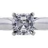 0.52 ct. Asscher Cut Bridal Set Ring, D, VVS2 #4