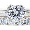 1.01 ct. Round Cut Bridal Set Ring, H, I1 #4