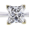 1.02 ct. Princess Cut Solitaire Ring, F, SI1 #4