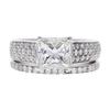 1.7 ct. Princess Cut Bridal Set Ring, I, VVS2 #3